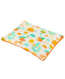 Kanyoga Mustard Seed Baby Head Shaping Pillow For Sleeping & Flat Head Syndrome Prevention  Animal Print - Multicolour