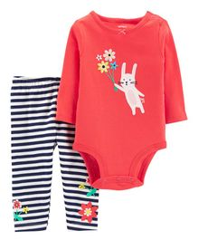 Carter's 2-Piece Bunny Bodysuit Pant Set - Red