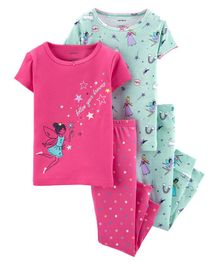 Carter's 4-Piece Fairy Snug Fit Cotton PJs - Multicolor