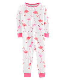 Carter's 1-Piece Flamingo Snug Fit Cotton Footless PJs - Pink