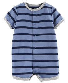 Carter's Striped Boat Snap-Up Romper - Blue