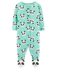 Carter s Panda Zip-Up Cotton Sleep   Play - Light Blue bad04bfba