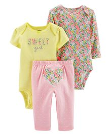 Carter's 3-Piece Heart Little Character Set - Pink Yellow