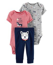 CARTER'S 3-Piece Dog Little Character Set - Multi Colour
