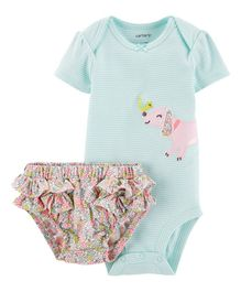 Carter's 2-Piece Dog Bodysuit & Diaper Cover Set - Sea Green