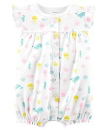 Carter's Whale Snap-Up Romper - White
