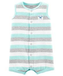 Carter's Whale Snap-Up Romper - Multicolour