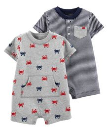 Carter's 2 Piece Crab Rompers - Grey