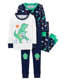 Carter s 4-Piece Dinosaur Snug Fit Cotton PJs - Multicolor 7f09546f6