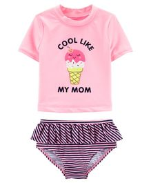 Carter's Carter's Ice Cream 2-Piece Rashguard Set - Pink