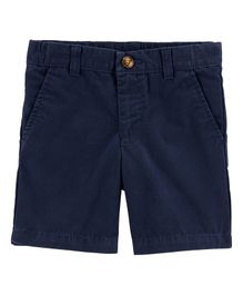 Carter's Flat-Front Canvas Shorts - Navy Blue