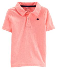 Carter's Snow Yarn Jersey Polo - Pink