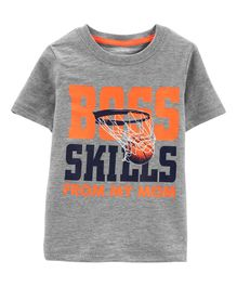 Carter's Basketball Slub Jersey Tee - Grey