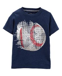 Carter's Baseball Jersey Tee - Navy Blue