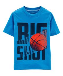 Carter's Big Shot Basketball Jersey Tee -Sky  Blue