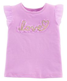 Carter's Love Tulle-Sleeve Top - Lavender