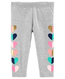 Carter's Heart Capri Leggings - Grey