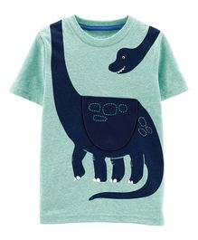 Carter's Dinosaur Peek-A-Boo Flap Snow Yarn Tee - Green