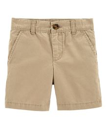Carter's Flat-Front Canvas Shorts - Beige