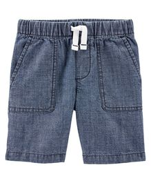 Carter's Pull-On Chambray Shorts - Blue