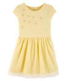 Carter's Tulle Butterfly Jersey Dress - Yellow