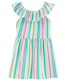 Carter's Striped Ruffle Dress - Multicolour