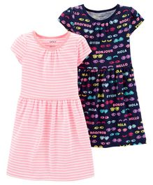 Carter's 2-Pack Jersey Dress Set - Pink Navy Blue