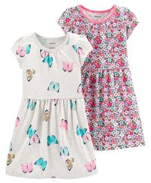 Carter's 2-Pack Jersey Dress Set - Grey Pink