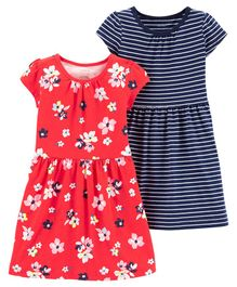 Carter's 2-Pack Jersey Dress Set - Red Navy Blue