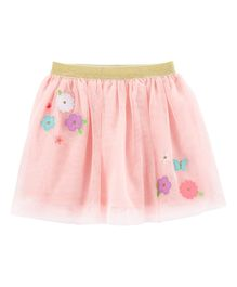 Carter's Flower Tulle Tutu Skirt - Pink