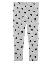 Carter's Heart Leggings - Grey