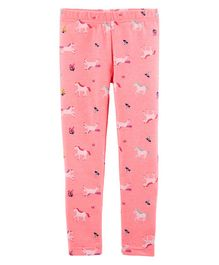 Carter's Unicorn Leggings - Pink