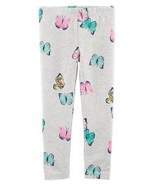 Carter's Butterfly Leggings - Grey
