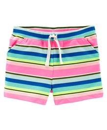 Carter's Striped Pull-On French Terry Shorts - Multicolour