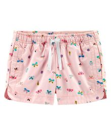 Carter's Butterfly Pull-On Twill Shorts - Pink