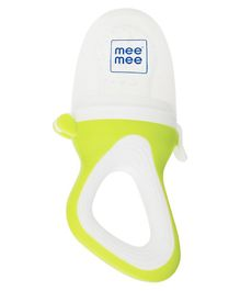 Mee Mee Fruit And Food Nibbler With Silicone Sack - Green & White