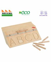 Eduedge Wooden Tracing Capital Letters Educational Toy - Beige