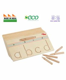 Eduedge Wooden Tracing Small Letter Educational Toy - Beige