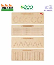 Eduedge Wooden Tracing  Basic Patterns Educational Toy - Beige