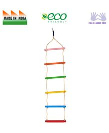 Eduedge Wooden Ladder Educational Toy - Multicolor