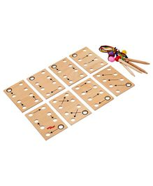 Eduedge Wooden Lacing Plates - Beige