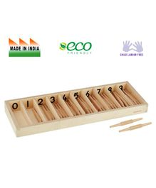 Eduedge Wooden Spindle Box Brown - Pack of 45 Pieces