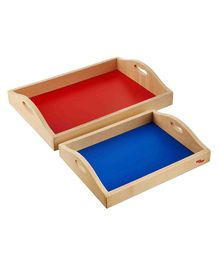 Eduedge Wooden Trays Blue & Red - Pack of 2