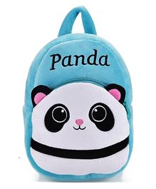 Frantic Velvet Nursery Bag Panda Best Blue -  14 Inches