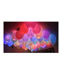 Amfin LED Balloons Pack of 25 - Multicolour