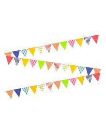 AMFIN Party Bunting Flag Banner - Multi Colour