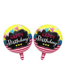Amfin Foil Balloons Birthday Print Pack of 2 - Multicolour