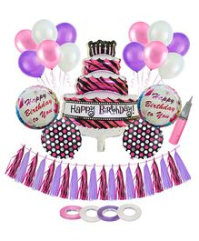 Amfin Birthday Decoration Set - Pink & Purple