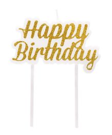 Amfin Happy Birthday Candle - Golden