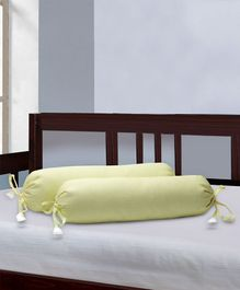 The Baby Atelier Bolster Cover With Fillers Solid Print - Yellow